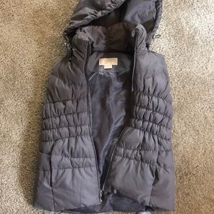 Michael Kors puffy vest with removable hood